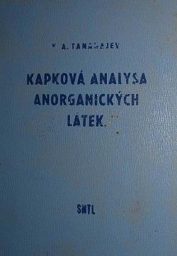 Kapková analysa anorganických látek obálka knihy