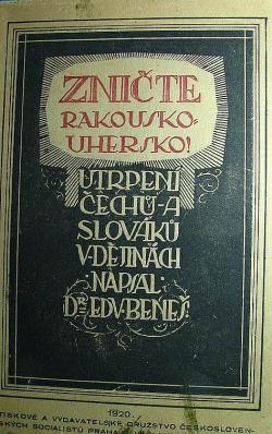 Zničte Rakousko-Uhersko! obálka knihy