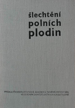 Šlechtění polních plodin II. - část speciální obálka knihy
