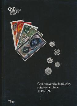 Československé bankovky, státovky a mince 1919-1992 obálka knihy