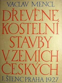 Dřevěné kostelní stavby v zemích českých obálka knihy