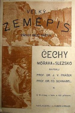 Velký zeměpis Republika československá Čechy II. obálka knihy
