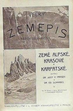 Velký zeměpis Země alpské, krasové a karpatské II. obálka knihy