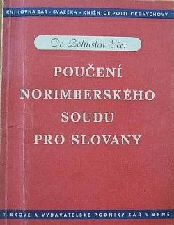 Poučení norimberského soudu pro Slovany obálka knihy