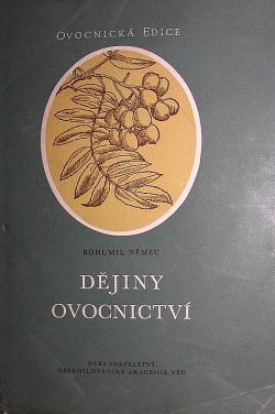 Dějiny ovocnictví obálka knihy