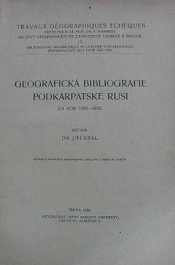 Geografická bibliografie Podkarpatské Rusi za rok 1923-1926