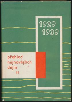 Přehled nejnovějších dějin II. 1929-1939 obálka knihy