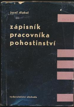 Zápisník pracovníka pohostinství obálka knihy