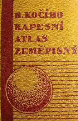 B. Kočího kapesní atlas zeměpisný obálka knihy