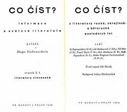 Co číst z literatury ruské, ukrajinské a běloruské obálka knihy