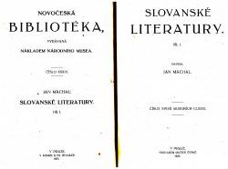 Slovanské literatury obálka knihy