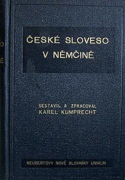 České sloveso v němčině obálka knihy