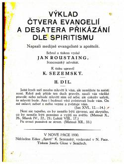 Výklad čtvera evangelií dle spiritismu obálka knihy