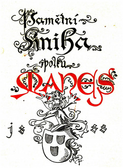 Dva listy z pamětní knihy SVU Mánes obálka knihy