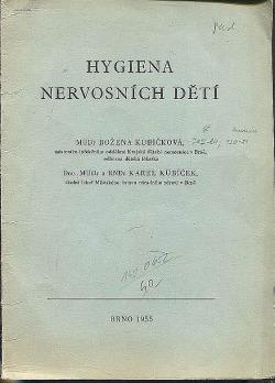 Hygiena nervosních dětí obálka knihy