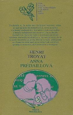 Anna Prédaillová obálka knihy