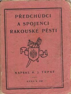 Předchůdci a spojenci rakouské pěsti obálka knihy