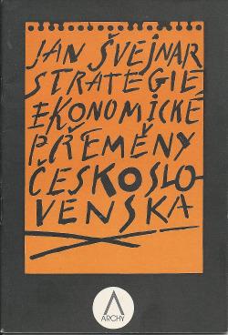 Strategie ekonomické přeměny Československa obálka knihy