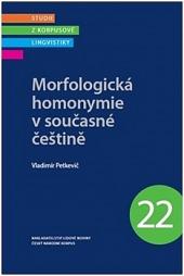 Morfologická homonymie v současné češtině obálka knihy