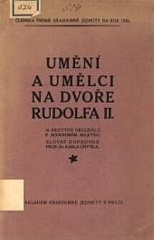Umění a umělci na dvoře Rudolfa II. obálka knihy