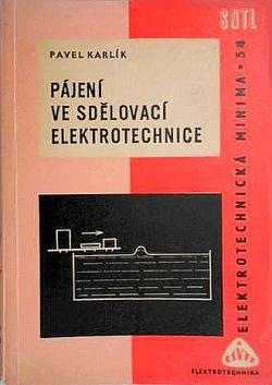 Pájení ve sdělovací elektrotechnice obálka knihy