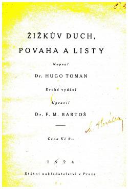 Žižkův duch, povaha a listy obálka knihy