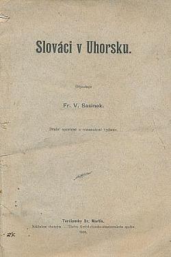 Slováci v Uhorsku obálka knihy