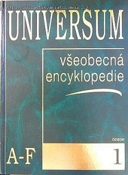 Universum - všeobecná encyklopedie 1 A-F obálka knihy