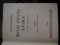 Moje první láska a jiné povídky obálka knihy
