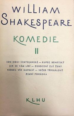 Komedie II. obálka knihy