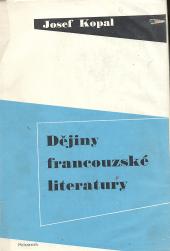 Dějiny francouzské literatury obálka knihy