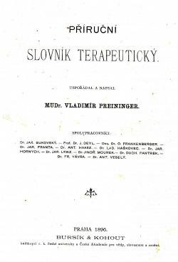Příruční slovník terapeutický obálka knihy