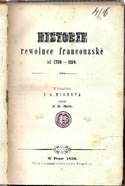 Historie rewoluce francouzské od 1789-1814 obálka knihy