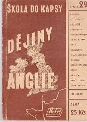 Dějiny Anglie obálka knihy
