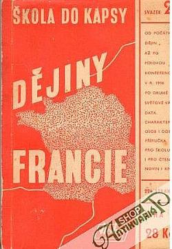 Dějiny Francie obálka knihy