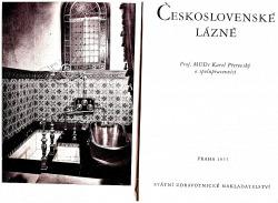 Československé lázně obálka knihy