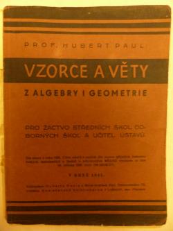 Vzorce a věty z algebry i geometrie obálka knihy