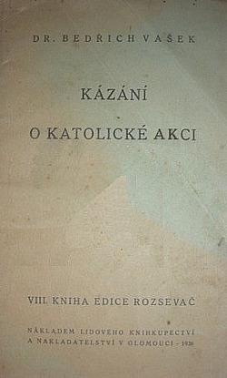 Kázání o katolické akcí obálka knihy