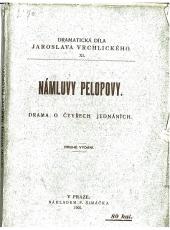 Námluvy Pelopovy obálka knihy