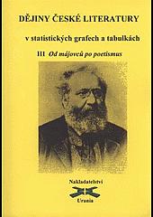 Dějiny české literatury v statistických grafech a tabulkách 3 - Od májovců po poetismus obálka knihy