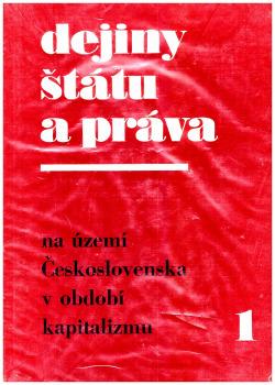 Dejiny štátu a práva obálka knihy