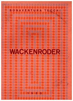Wackenroder obálka knihy