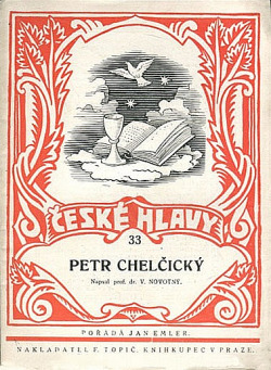 Petr Chelčický obálka knihy