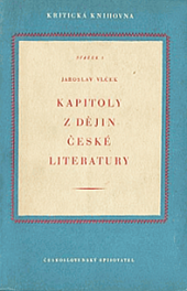 Kapitoly z dějin české literatury obálka knihy