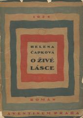 O živé lásce obálka knihy