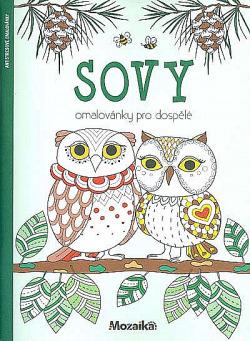 Sovy - omalovánky pro dospělé obálka knihy