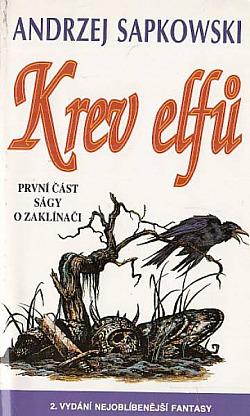 Krev elfů obálka knihy