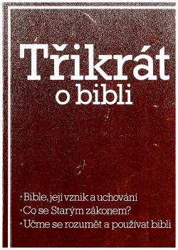 Třikrát o Bibli obálka knihy