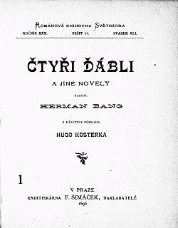 Čtyři ďábli a jiné novely obálka knihy