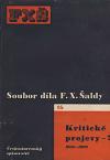 Kritické projevy - 7 (1908-1909)